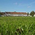 Soczysty, zielony trawnik a na tle ciekawe budowle :) #trawa #zielona #zamek #elegancki #trawiasty #ziemia #lato #wiosna #zieleń