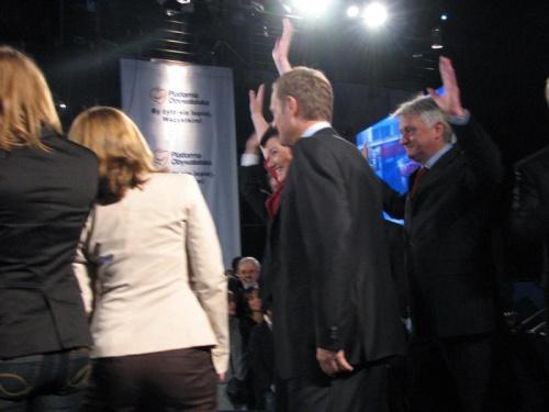 Sztab wyborczy Platformy Obywatelskiej - 21.10.2007