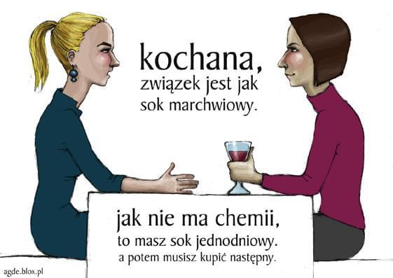 Kochana, nasz związek jest jak sok marchwiowy... #lezbijki #blog #marchewki