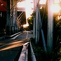 Z boku centrum handlowego Eastgardens, Sydney, foto moja córka #CentrumHandlowe #uliczka #zachód #slońce