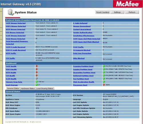 McAfee SCM screen shot #McAfeeSecurityContentManagement