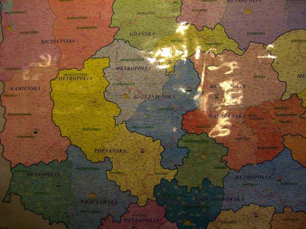 Mapa scienna Archidiecezji 2007