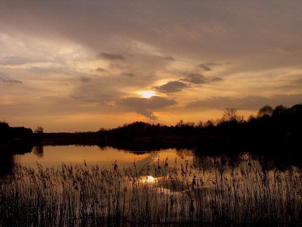 #natura #niebo #wieczór #zalew #zmierzch #woda #ZachódSłońca