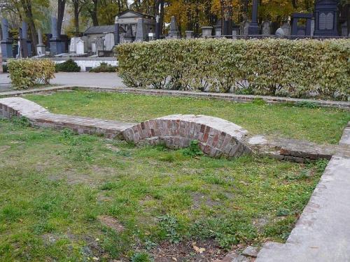 odkryte fundamenty Synagogi i Domu Przedpogrzebowego #Cmentarz