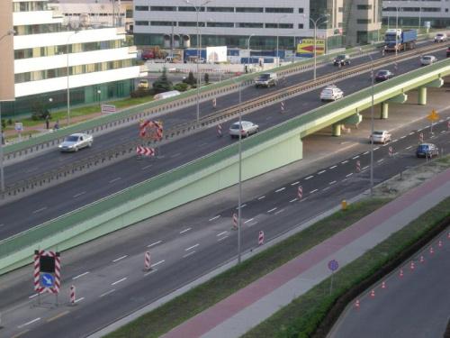 2008-06-09 Budowa wiaduktu nad Rondem Dudajewa