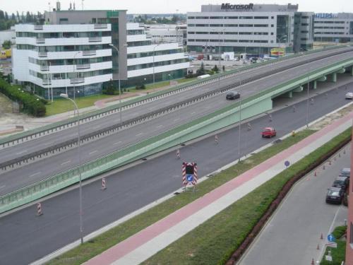 2008-06-30 Budowa wiaduktu nad Rondem Dudajewa
