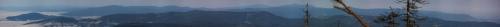 Panorama z Zielonego Kopca na Beskid Morawski #skrzyczne #beskid #panorama #krajobraz