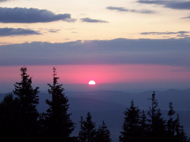 Poranek na Srzycznem #skrzyczne #beskid #panorama #krajobraz #poranek #wschód