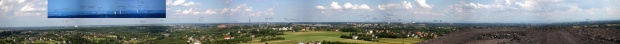 Panorama z hałdy Szarlota w Rydułtowie koło Rybnika.