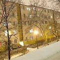 nocny widok z okna #azory #bloki #ciekawostki #jaba #nocne #widoki #zimowe #kraków