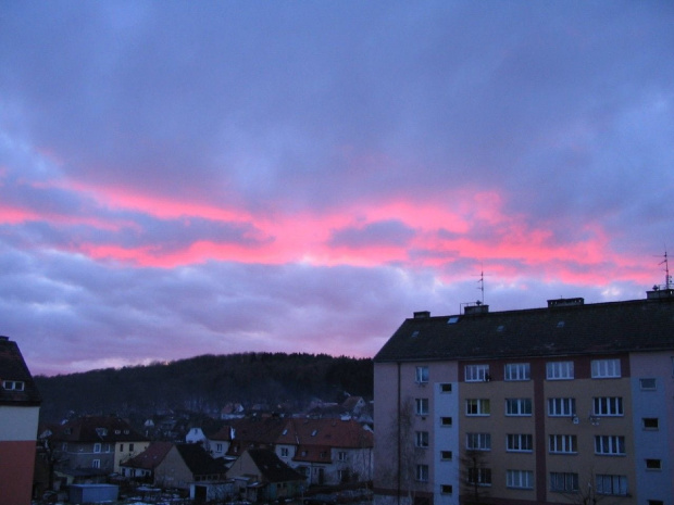 Zachód słońca #ChmuryChmurkiZachód