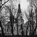 Cerkiew we Włodawie ujecie z parku #cerkiew #zabytek #kultura #kosciół #starocie #drzewa